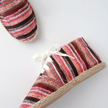 Kellan Red Multi Canvas Chukka Espadrilles