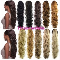 Hot SaleWomen Hair Piece Ponytail Curly Claw Fake Hair Extensions 32 Inches 220g