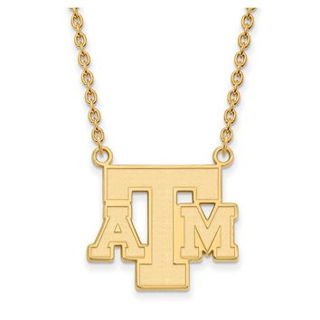 NCAA 14k Yellow Gold Texas A&M U Lg Logo Pendant Necklace