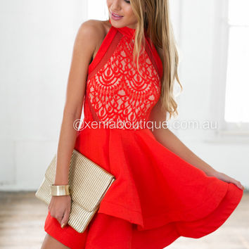 Wilde Willow Lace 2.0 Dress (Red)