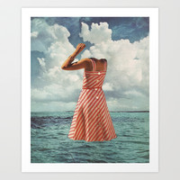 FLOAT Art Print by Beth Hoeckel Collage & Design