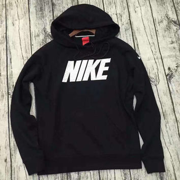 Nike Woman Men Fashion Hooded Long Sleeve Top Sweater Sweatshirt