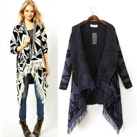 Acrylic Long Sleeve Knit Cardigan Sweater
