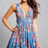 Floral Trapeze Mini Dress