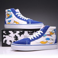 Trendsetter VANS X Disney SK8-Hi Canvas Ankle Boots Flats Sneakers Sport Shoes