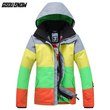 GSOU SNOW Brand Ski Jackets Men Snowboarding Jackets Winter Waterproof Skiing Clothes Male Outdoor Sport Coat Snowboard Clothing