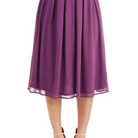 ModCloth Vintage Inspired Long High Waist Glance My Way Skirt