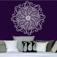 Mandala Wall Decal Vinyl Sticker Decals Lotus Flower Yoga Namaste Indian Ornament Moroccan Pattern Om Home Decor Bedroom Art Design Interior NS292