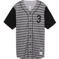 Adidas Hey Nomah Baseball Jersey - Mens Tee - Grey