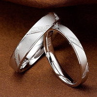 Fashion Men Women Nkeru Couture Love 925 Sterling Silver Couple Rings Lovers Wedding Band His and Her Promise Ring 1 piece choose size CK77