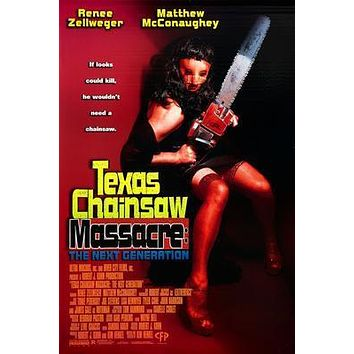 Texas Chainsaw Massacre poster Metal Sign Wall Art 8in x 12in