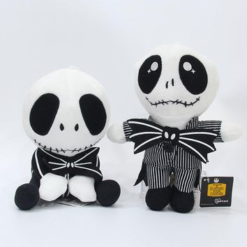 The Nightmare Before Christmas Jack Skellington Plush Toys Soft Stuffed Dolls 2 Styles 20/23cm AP0702