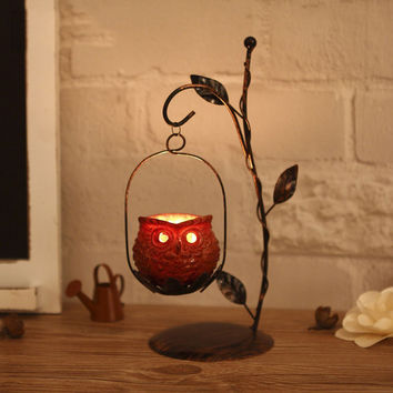 Owl Candle Holders