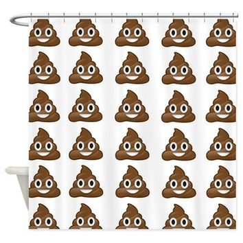 poop emoji Shower Curtain