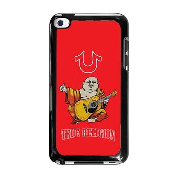 RED BIG BUDDHA TRUE RELIGION iPod Touch 4 Case Cover