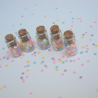 Fairy Dust Set of 5stars wishing jars star by thesetinytreasures