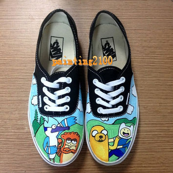 custom Vans shoes,Adventure time shoes,painted shoes,best gifts