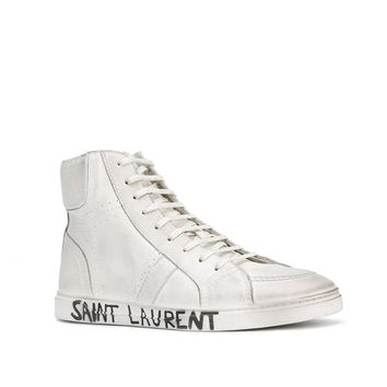 White High-Top Sneakers by Saint Laurent