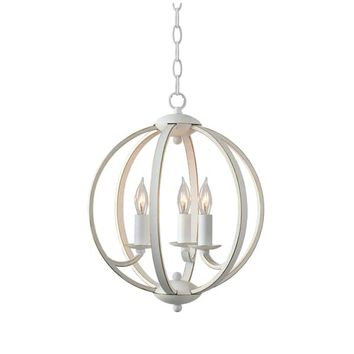 Design Craft Pearl Weathered White 3 Light Chandelier | Overstock.com Shopping - The Best Deals on Chandeliers & Pendants