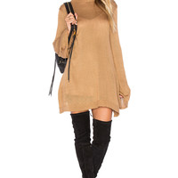 Show Me Your Mumu Festibell Sweater Dress in Camel | REVOLVE