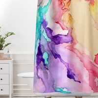 Rosie Brown Color My World Shower Curtain And Mat