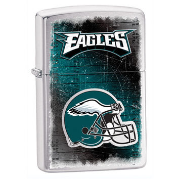 Personalized NFL Brushed Chrome Zippo Lighter - Philadelphia Eagles