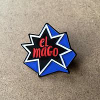 Chicago Cubs Pin – Enamel Pin celebrating Javy Baez the Magician at 2nd base, El Mago! Great Cubs fan gift!