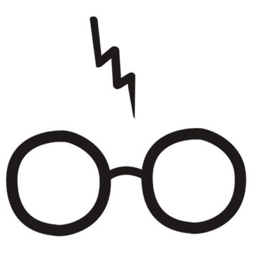 Harry Potter Inspired Glasses and Scar Decal - For Laptops, Cars, or Anything Else You Can Think Of!