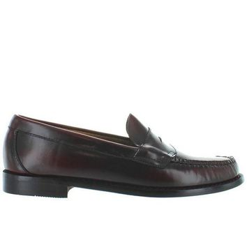 ONETOW Bass Weejuns Logan - Burgundy Leather Classic Penny Loafer