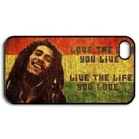 Bob Marley Quotes Vintage case for iPhone 4 4s / iPhone 4 4s case hard cases / iPhone 4 4s Design and made to order / custom cases