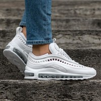 "Nike Air Max 97 Ultra '17 SI Retro Running Sneaker ""Triple White"" AO2326-100"