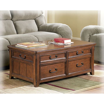 Darby Home Co Mathis Coffee Table Trunk with Lift Top & Reviews | Wayfair