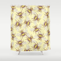 Bees! Shower Curtain by Good Sense
