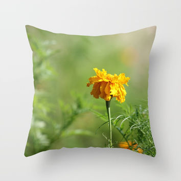 Simple Treasure In Gold Throw Pillow by Theresa Campbell D'August Art