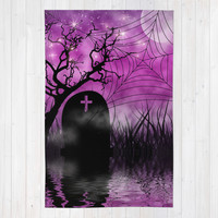 Hallow In Pink Area & Throw Rug by Webgrrl