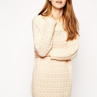 ASOS Slouchy Jumper Dress in off the Shoulder Shape