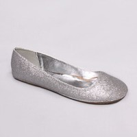 Afar Silver Glitter Ballet Flat in Other Ways To Shop New Arrivals at Frock Candy