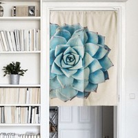 "Japanese Noren Doorway Curtain Tapestry 33.5"" Width x 47.2"" Long, Succulent B"