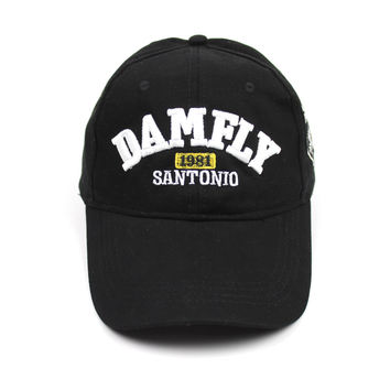 Summer hats for boys It says on the hat DAMFLY 1981 SANTONIO hip-hop hats anti social club chance the rapper youth baseball cap