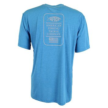 Haze Performance Tee Shirt in Teal by AFTCO