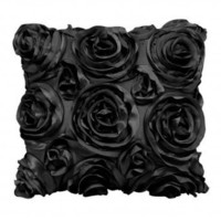 Wake Up Frankie - The Bouquet Dec Pillow - Black