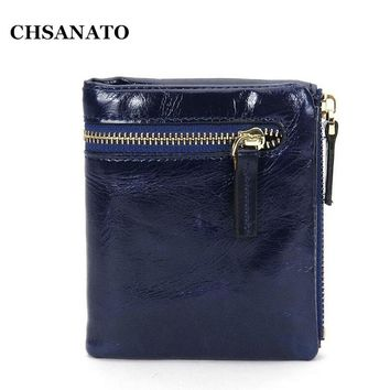 2017 New Women Wallets Genuine Leather Bag Simple and Practical Wallet Long Purse and Retro Fashion Zipper High Quality Wallet