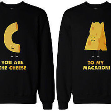 9248a23776 You're the Cheese to My Macaroni BFF Matching SweatShirts for Best Friend