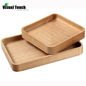 Visual Touch Japanese Wooden Plates Handmade ZELKOVA Wood zakka Dishes For Sushi/Dessert/Snack Free Shipping Serving Tray Bed
