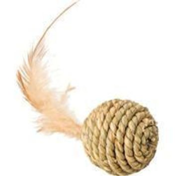 Ethical Cat - Seagrass Ball W/feathers Cat Toy