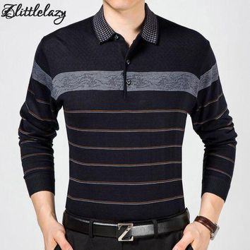 CREYLD1 2018 casual long sleeve business mens shirts male striped fashion brand polo shirt designer men tenis polos camisa social 5158
