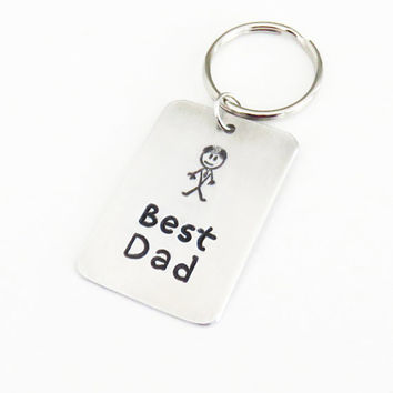 Best Dad keychain keyring or pendant necklace - Dad birthday gift - Father's day gift - Father birthday gift