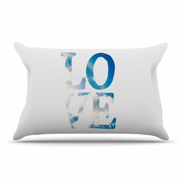 "Robin Dickinson ""LOVE"" White Cloud Pillow Sham"