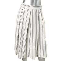 JOA Womens Pleated Printed A-Line Skirt