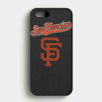 San Francisco Giant Black iPhone SE Case
